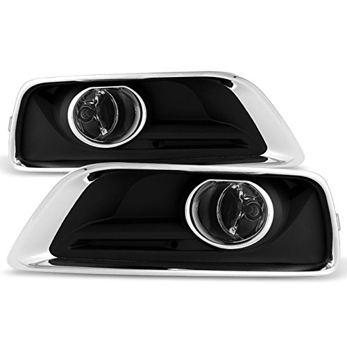 For 2013 2014 2015 Chevy Malibu Bumper Clear Fog Lights Lamps w/Switch + Bulbs + Cover ()