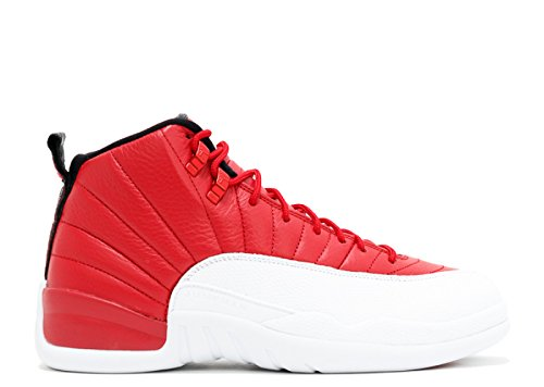 Nike Air Jordan 12 Rétro, Gym Rouge / Blanc-noir, 10