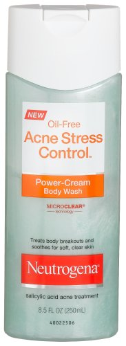 Neutrogena Acne Stress Control Body Wash, Power-Cream, 8.5 Ounce (Pack of 3)