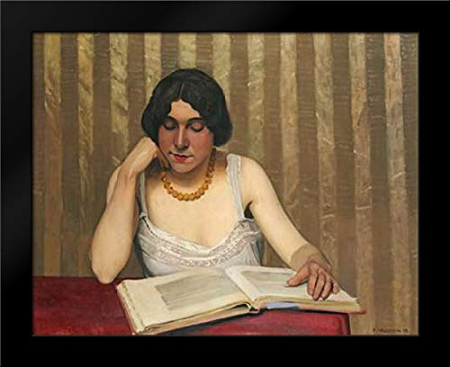 Reader with a Yellow Necklace Framed Art Print by Vallotton, Felix