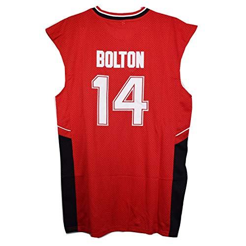 AIFFEE #14 Bolton Wildcats Red Color Basketball Jersey S-XXL 90S Hip Hop Clothing for Party, Stitched Letters and Numbers (L)
