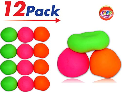 2GoodShop Stretchy Ball Assorted Colors (Pack of 12) Bounce Stress Pull and Stretch Fun - Item #401-12 (Best Summer Camp Pranks)