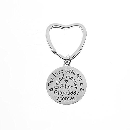 Canadian Jewelry - Grandma Keychain, Love Between A Grandmother & Grandkids is Forever, Perfect Grandma Jewelry Gift