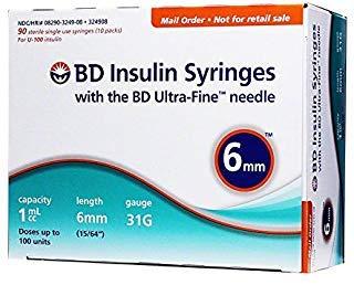 BD Ultra-Fine Syringes 31G 1cc 6mm 90ct by BD Ultra-Fine Syringes 31G 1cc 6mm 90ct