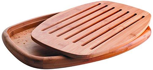 Lacor 60491 Brotschneidebrett aus Bambus, 40x27x3cm