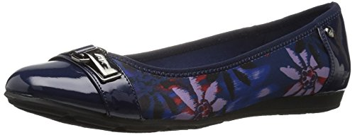 AK Anne Klein Sport Women's Able Fabric Ballet Flat Navy Combo cheap for cheap free shipping pay with paypal browse cheap price NrW1QgAC