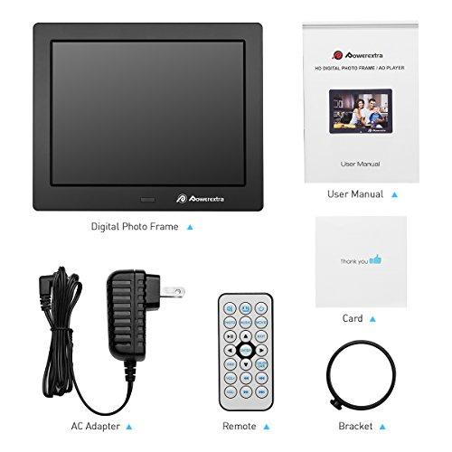Powerextra 8 inch Digital Photo Frame HD Video Frame High Resolution ...