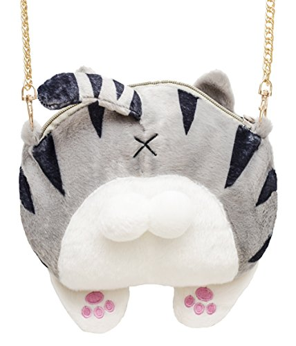 Cute Cat Butt Tail Plush Shoulder Bags Purse