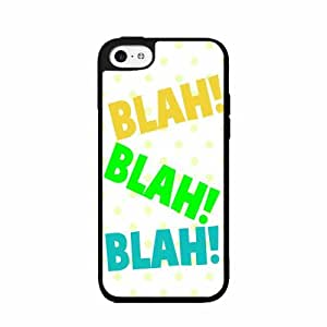 Blah Blah Blah 2-Piece Dual Layer Phone Case Back Cover iPhone 5 5s includes diy case Cloth and Warranty Label