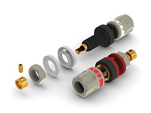 aeco Binding Post ABI-0611G, 2pcs/1set, Gold Plating, Vacuum bag