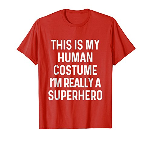 Mens Funny Superhero Costume Shirt Halloween Kids Adult