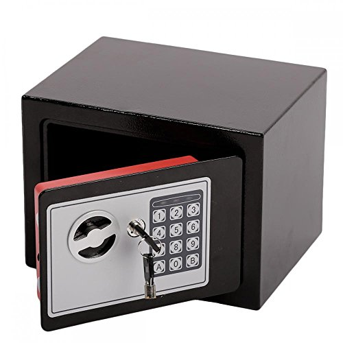 Small Black Digital Electronic Gun Safe Box Keypad Lock Security Home Office Hotel