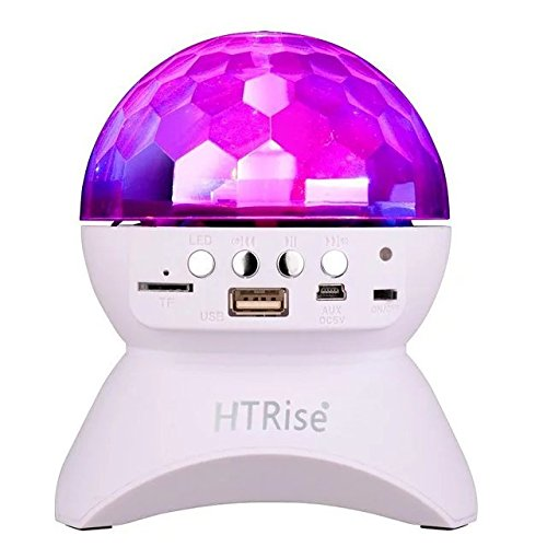 HTRise 2nd Version Wireless Bluetooth Disco Ball Lamps Speaker Sound Control Rotating LED Light
