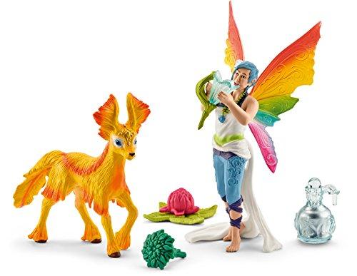 (Schleich North America Rainbow Elf Dunya with Foal Toy Figure)