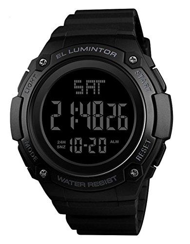 (Mens Outdoor Sport Watches Luxury Brand Men LED Digital Watch Waterproof Date Clock Large Dial Military wristwatch)