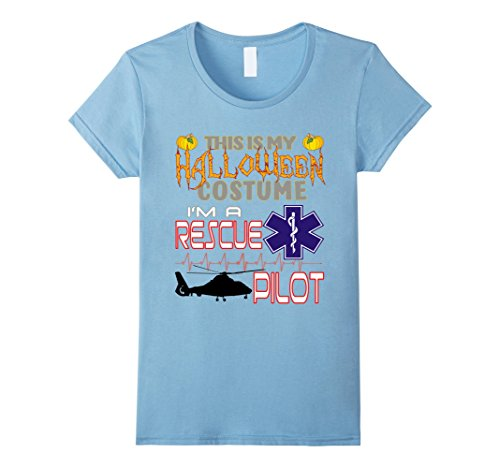Hard Working Lady Costume (Womens Rescue Pilot Halloween Costume Shirt Small Baby)