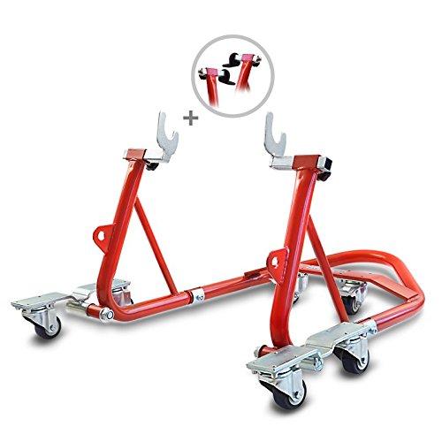 12 opinioni per Cavalletto Sposta Moto Posteriore ConStands Mover I Universale rosso