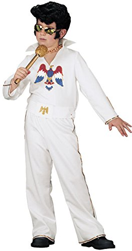 Fun World Child's Elvis Presley Rock Star Costume (Size: Medium 8-10) ()
