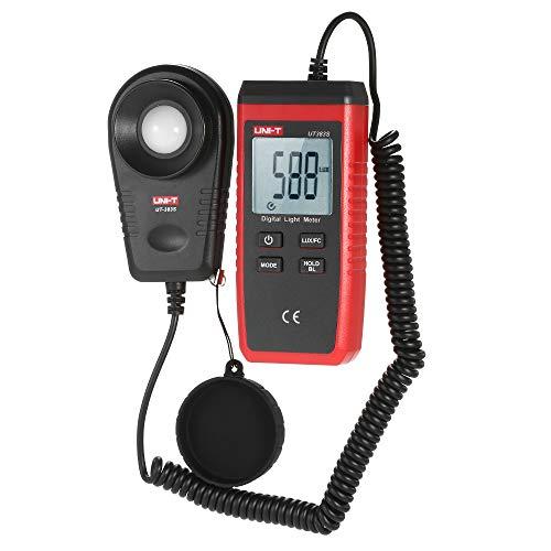 DZSF Handheld Light Photometer UT383S Mini LCD Luminometer Digital Photometer Luxmeter Light Meter 0-199999 ()