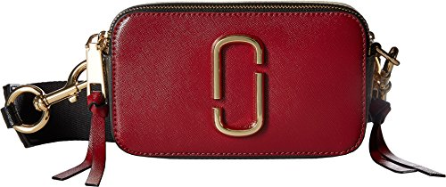 Marc Jacobs Women's Snapshot Cross Body Bag, Deep Maroon/Granite, One Size