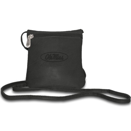 NCAA Ole Miss Rebels Black Leather Women's Mini Bag
