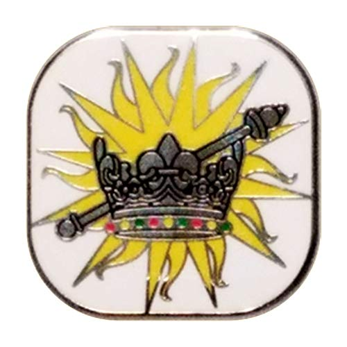 Esther OES Eastern Star Crown Septer Lapel Pin One Inch Gold Plated ()