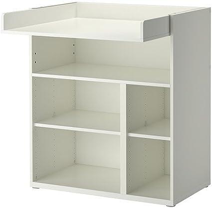IKEA STUVA - Cambio de mesa / escritorio, blanco - 155 cm: Amazon ...