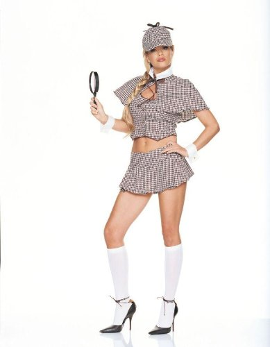 [Detective Girl Costume - Large - Dress Size 12-14] (Holoween Costumes Ideas)