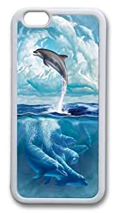 Dolphin Sky TPU Case Cover for iPhone 6 4.7inch White