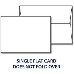 "Heavyweight Blank White 5"" X 7"" Cards with Envelopes - 40 Cards & Envelopes (40 Cards & Envelopes)"