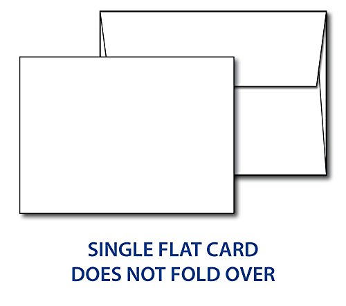 Heavyweight Blank White 5'' X 7'' Cards with Envelopes - 100 Cards & Envelopes by Desktop Publishing Supplies, Inc.