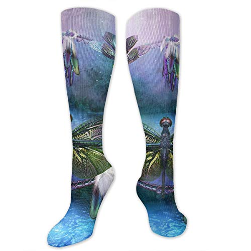 - Hisjso90sh-id Dream Catcher Dragonfly Fashion Thigh High Stockings,Sports Compression Socks Men & Women Casual Athletic Sports Crew Tube Socks