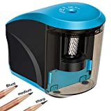 Electric Pencil Sharpener, Kishgo Pencil Sharpener Heavy Duty Helical Blade for No. 2 and Colored Pencils, USB/Battery Operated Small Electric Sharpener for Office Classroom Home Kids Artists