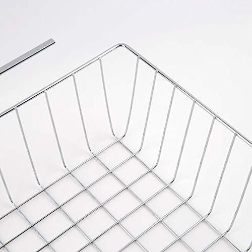 ningbao771 White//Silver Polyester /& Spandex Lightweight and Durable Design Suoerior Kitchen Under Shelf Storage Basket Lightweight Metal Organiser Rack