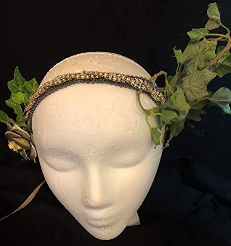beltane headdress fairy circlet crown moon pagan ritual green man goddess dark woodland wicca witch solstice nature magic spring elven magic