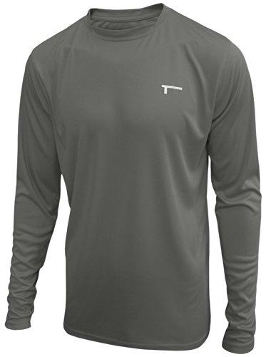 TREN Herren COOL Ultra Lightweight Polyester LS Tee Funktionsshirt T-Shirt Langarm Dunkelgrau 020 - XL
