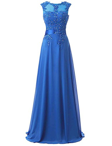 New Belle House Women's Long Chiffon Evening Dresses Celebrity Beaded Prom Gown supplier