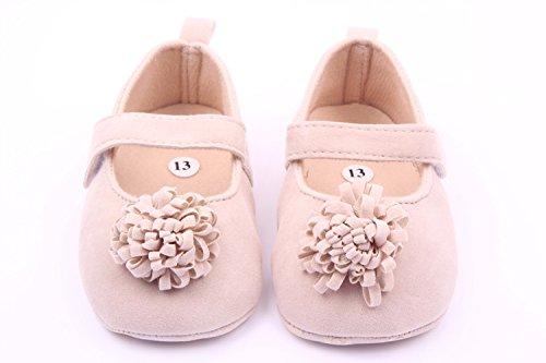Zapatos de bebé,AZXES,Calzado Antideslizante, Zapatillas Suave niña Caqui