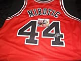 Nikola Mirotic Chicago Bulls Autographed Signed Red Jersey W/ Proof Picture