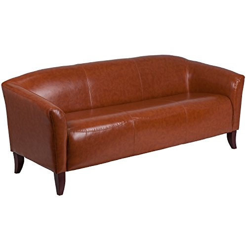 Flash Furniture Hercules Imperial Series Cognac Leather Sofa