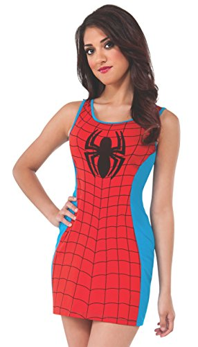 Rubie's Costume Women's Marvel Universe Adult Spider-man Tank Dress, Multi, (Spiderman Costume For Women)