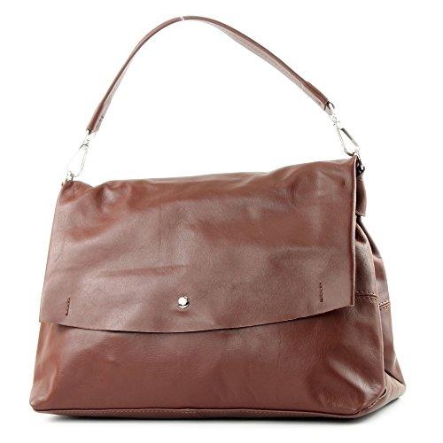 Brown à in cuir modamoda main Made sac Sac italien IT40 sac cuir nappa de sac bandoulière femme à sac Italy qqgPHF
