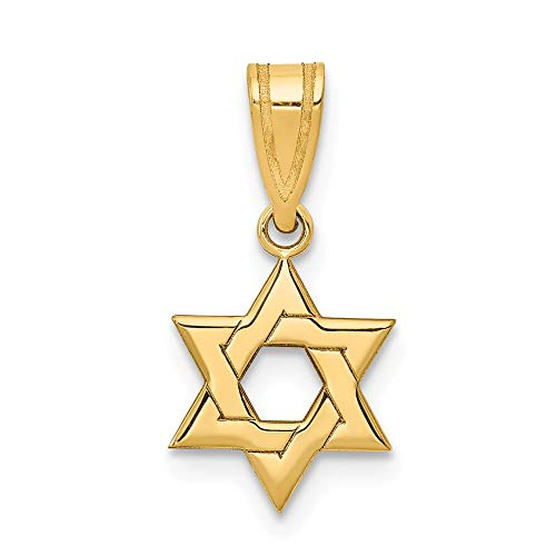 Star Of David Charm Pendant - 14k Yellow Gold Jewish Jewelry Star Of David Pendant Charm Necklace Religious Judaica Fine Jewelry Gifts For Women For Her