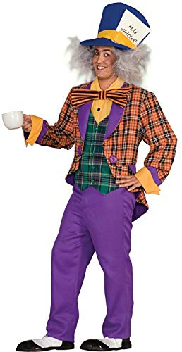 Alice In Wonderland Costumes For Men (Forum Alice In Wonderland The Mad Hatter Costume, Purple/Orange, One)