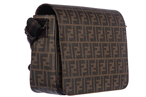 3e3a917cb0cbf Fendi borsa uomo a tracolla borsello originale pattina zucca cuoio marrone   Amazon.it  Abbigliamento