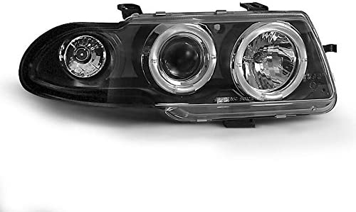 P02 Shop Import Par de Luces Faros Opel Astra F 91/ /94/Angel Eyes Negro