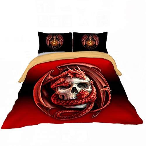 Erosebridal Skull Printed Bedding Duvet Cover for Teen for sale  Delivered anywhere in USA