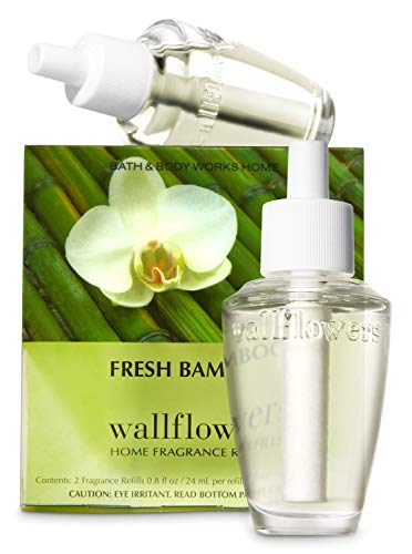 Bath & Body Works Fresh Bamboo Wallflowers Home Fragrance Refills, 2-Pack (1.6 fl oz total)  ()