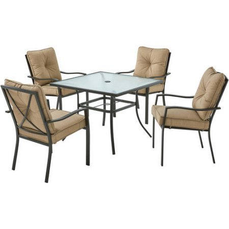 Mainstays Forest Hills 5-Piece Dining Set, Tan - home ...