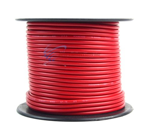 16 GAUGE WIRE RED & BLACK POWER GROUND 100 FT EACH PRIMARY STRANDED COPPER CLAD by Best Connections (Image #1)'
